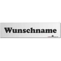 Namensschild für Hundeboxen 280x70mm mit Ihrem Wunschtext schwarz