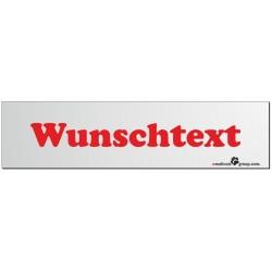 Namensschild für Hundeboxen 280x70mm mit deinem Wunschtext rot