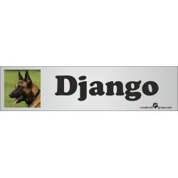 Namensschild für Hundeboxen 280x70mm mit deinem Foto