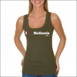 "Ladies' Tank Top Olivgrün ""I love Malinois"""