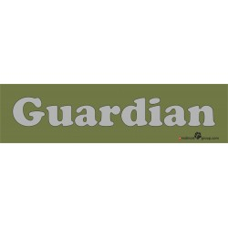 Namensschild für Hundeboxen 280x70mm im Military-Green