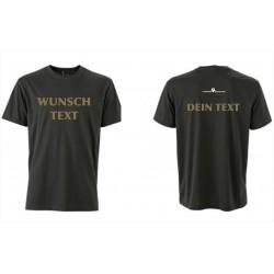T-Shirt schwarz mit deinem WUNSCHTEXT