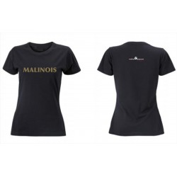 Premium-T-Shirt Damen schwarz mit MG-Logo und MALINOIS