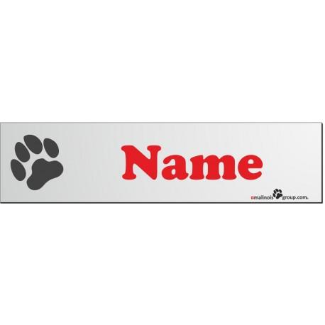 Namensschilder für Hundeboxen