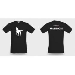 Premium-T-Shirt Herren schwarz mit mit Mali-Kontur und Text Malinois