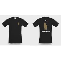 Premium-T-Shirt Herren schwarz mit Tervueren klein und gross und TERVUEREN als Text