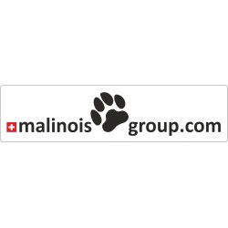 "Aufkleber ""malinois group"" 200x50mm"